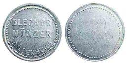 01113 GETTONE JETON TOKEN VENDING KANTINE BLECHER MUNZER DILLENBURG - Allemagne