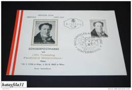 Österreich FDC 1965 Mi. 1193   100.Todestag Von Ferdinand Georg Waldmüller  ( T - 21 ) - FDC