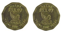 00049 GETTONE JETON TOKEN READER'S DIGEST THANK YOU TOKEN VALUE £13,97 - United Kingdom