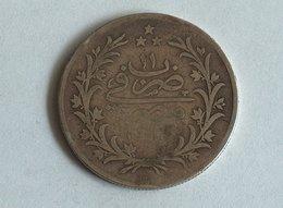 Egypte 10 Qirsh 1293 (1885) W  Argent Silver Egypt Kurush - Egypte
