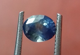 0.85 Ct Natural Blue Sapphire Oval Shape [#0075-05] - Saphir