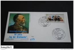 "BRD  FDC  1986 Mi. 1300  / 50 Jahre """" Tag Der Briefmarke """"  / Stempel BONN  (T - 35) - BRD"