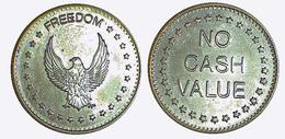 00255 GETTONE JETON TOKEN GAMING MACHINE EAGLE FREEDON TOKEN NO CASH VALUE - United Kingdom