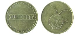 01963 GETTONE JETON TOKEN MACHINE AMUSEMENT PARK SUN CITY - USA