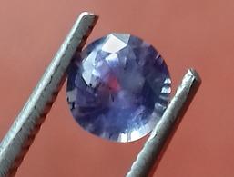 0.75 Ct Natural Purplish Blue Sapphire Round Shape [#0075-07] - Saphir