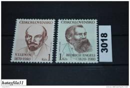Tschechoslowakei   1980   Mi. 2565 + 2566  ** Postfrisch - Unused Stamps