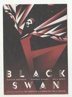2012 BLACK SWAN MOVIE ADVERT Postcard SWITZERLAND Stamps Cover Bird Natalie Portman Etc Film Cinema - Posters On Cards