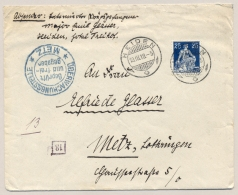 Schweiz - 1918 - Metz Censored POW-cover Written In Tissue From HEIDEN To Metz / France - Documenten
