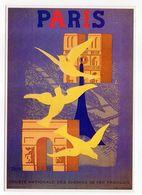 Illustrateur  Paul Colin ( Affichiste) --PARIS --Arc De Triomphe,Tour Eiffel,Notre-Dame---pour SNCF - Altre Illustrazioni