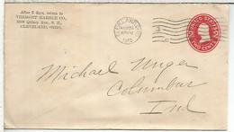 ESTADOS UNIDOS USA 1912 ENTERO POSTAL VERMONT MARBLE CO MARMOL MINERIA MINNING - Minerales