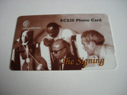TELECARTE ST LUCIA THE SIGNING 254CSLB011656 - Sainte Lucie