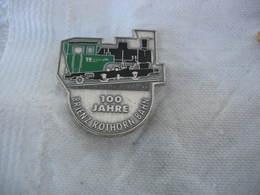 Pin's Des 100 Ans D'une Locomotive à Vapeur Allemande, Brienz Rothorn Bahn - Transport