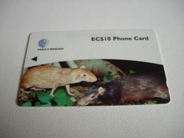 TELECARTE DOMINICA EC$10 PHONE CARD 248CDMA004630 - St. Lucia