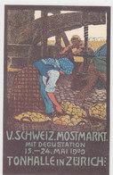 Zürich - Schweiz. Mostmarkt 1909 - Künstlerlitho        (P-159-30321) - Expositions