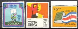 Costa Rica - 1976 - Yt 649 -> 651 - Editorial Costa Rica - 649 Obl - 650 * TC - 651 ** - Costa Rica