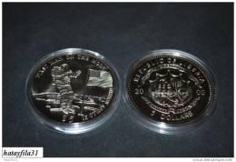LIBERIA 2000 Neusilber 5 Dollars - 1. Mensch Auf Dem Mond / FIRST MAN ON THE MOON - Liberia