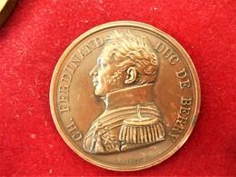 FRANCE-1820-ASSASSINAT DU DUC DE BERRY - CUIVRE - Royal / Of Nobility