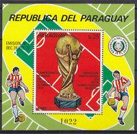 Soccer World Cup 1974 - PARAGUAY - S/S MNH** - Coppa Del Mondo