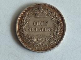 UK 1 SHILLING 1874 Die 36 Argent Silver - 1816-1901 : Frappes XIX° S.