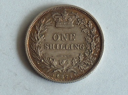 UK 1 SHILLING 1874 Die 36 Argent Silver - 1816-1901: 19. Jh.