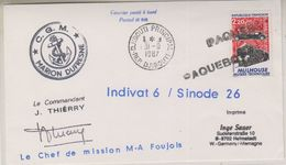 France 1987 Marion Dufresne / Ship Cover Ca 31.8.197 Djibouti (39427) - Poolshepen & Ijsbrekers