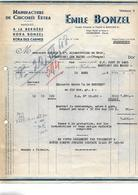 Facture + Bon Transport 1948 / NORD / HAUBOURDIN / E. BONZEL / Manufacture Chicorée / Koka Bonzel / A LaBergère - Francia