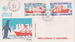 TAAF 1978 Ships 2v FDC Ca Alfred Faure Crozet (39429) - FDC