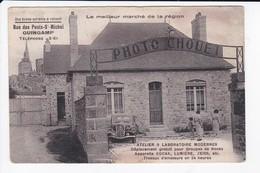 GUINGAMP -  COMMERCE - PHOTO CHOUET - RUE DES PONTS ST MICHEL - ATELIER ET LABORATOIRE MODERNES KODAK, LUMIERE, ZEISS-22 - Guingamp