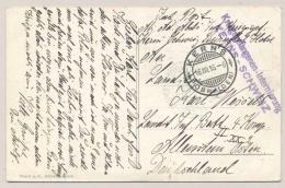 Schweiz - 1916 - Konstanz Censored POW-postcard From KERNS To Allenstein / Deutschland - Documenten