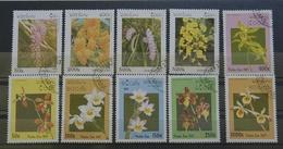 Laos Diverse Bluem 1996/97 USED/o (76/3 - Pflanzen Und Botanik
