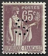 Perforé  S -  Ancoper S3 - Sénat  Sur  YT  184  -  Paix - Indice 5 - Perfins