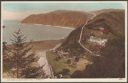 The Tors & Countisbury Hill, Lynmouth, Devon, 1953 - Postcard - Lynmouth & Lynton