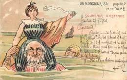 Fantaisie - Souvenir D' Ostende - Un Monsieur , Sa....Pupille Et Sa Dame - Oostende