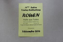 76 ROUEN  14 EME SALON TOUTES COLLECTION   7 DECEMBRE 2014 - Publicités