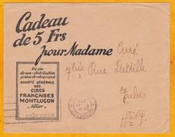 1934 - Enveloppe Commerciale Illustrée De Montluçon Vers Tarbes, France - Imprimés, Omec - Flier - Cires Françaises - 1921-1960: Période Moderne