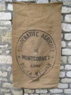 """MONTCORNET  ( 02-Aisne )   Très Ancien Sac En Toile De Jute   """" Coopérative Agricole De La Région """"  1958 - Other"""