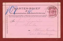 Rohrpost Pneumatic Kartenbrief 1902 Wien 101 - Telegraphenmarken