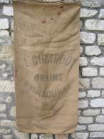 """CHAOURSE  ( 02-Aisne )   Très Ancien Sac En Toile De Jute   """" Coopérative L. GIRARDOT """"  1953 - Other"""