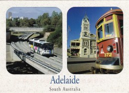 O'Bahn Busway And Glenelg Tram, Adelaide Transport, South Australia, Posted 2008 With Stamp - Adelaide