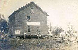 Lot De 2 Cartes Photo - Maison Mobile, Constructions Metalliques, Four:  à Localiser - Entreprise Samuel Clark - Etats-Unis