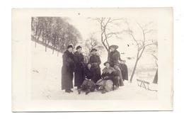 5200 SIEGBURG, Michaelsberg, Schlittenpartie, 1917, Photo-AK - Siegburg