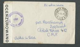 """4.IX.1944. STAMPLESS  COVER """" ON  ACTIVE  SERVICE """"   POLISH  FORCES IN  ITALY - 5. 1944-46 Lieutenance & Umberto II"""