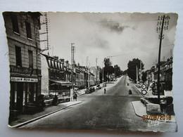 CP 91 ESSONNES - Corbeil Essonnes -  Café Tabac  Boulevard Jean Jaurès - Rouleau Compresseur Et Voiture à Gauche 1957 - Essonnes