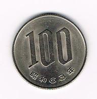 &-  JAPAN  100 YEN 1988 ( 63 ) - Japon