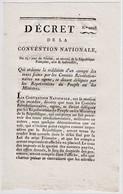 Year 2 Leaflet (re Collecting Taxes) Of French Republic: Decret De La Convention Nationale.  Ref 0549 - Autographs