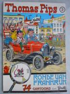 Thomas Pips 3 Ronde Van Frankrijk  1980 74 Cartoons Door Buth Uitgever Het Volk Zeer Goede Staat, Niets In Geschreven - Boeken, Tijdschriften, Stripverhalen