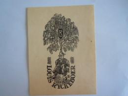 Ex-Libries België Louis Ryckeboer Gravure Van Jozef Leysen Form. 9,4 X 12,4 Cm - Bookplates
