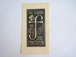 Ex-Libris België Jan Frateur Wapenschild Armoiries Abeille Bijenkorf Kasteel Chateau Form 6,4 X 12 Cm Getekend Signé GJ - Bookplates
