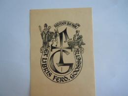 Ex-Libries België Immer Beter Ferd. Goossens Sint Niklaas Form 9,5 X 13,2 Cm Getekend Signé GJ - Bookplates