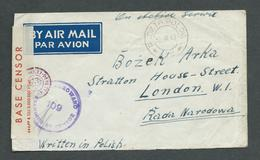 NOV. 1943.  STAMPLESS  COVER . ON  ACTIVE  SERVICE . POLISH  FORCES  IN  PALESTINE. - Stamps